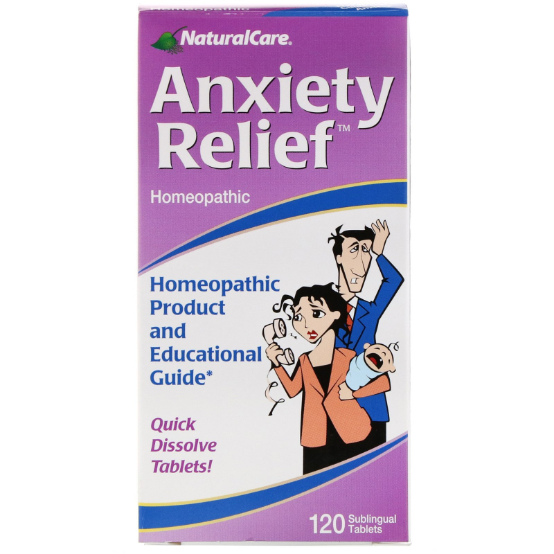 NaturalCare, Anxiety Relief, 120 Sublingual Tablets