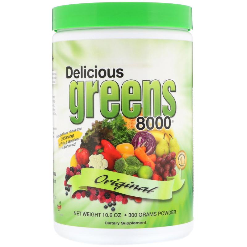 Greens World, Delicious Greens 8000, Original, 10.6 oz (300 g) Powder