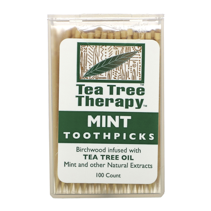 Tea Tree Therapy, Tea Tree TherapyToothpicks, Mint, 100 Approx.