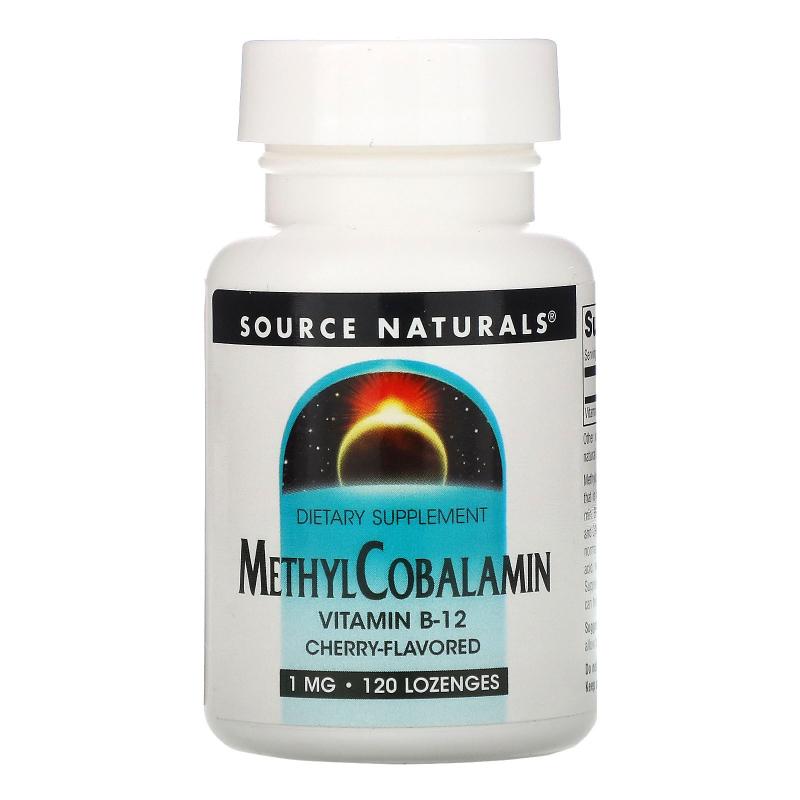 Source Naturals, MethylCobalamin, Cherry Flavored , 1 mg, 120 BioLingual Lozenges