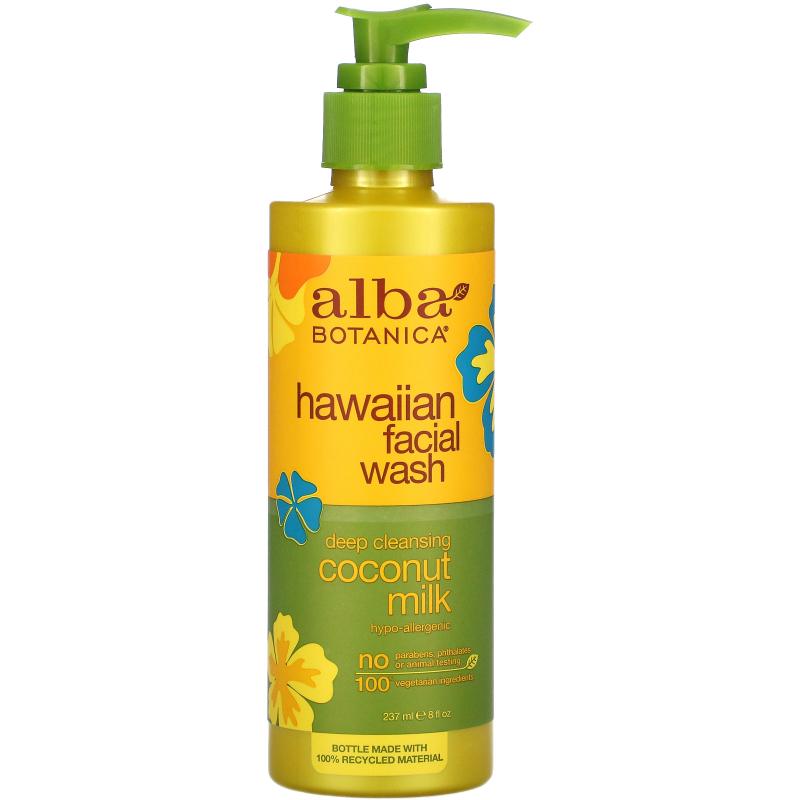 Alba Botanica, Facial Wash, Coconut Milk, 8 fl oz (235 ml)