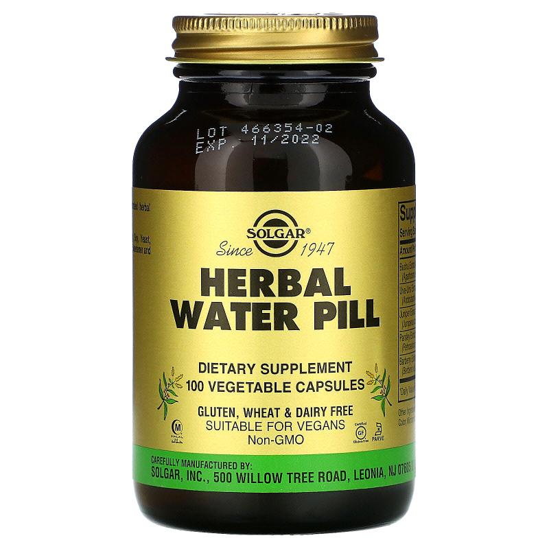 Solgar, Herbal Water Pill, 100 Vegetable Capsules