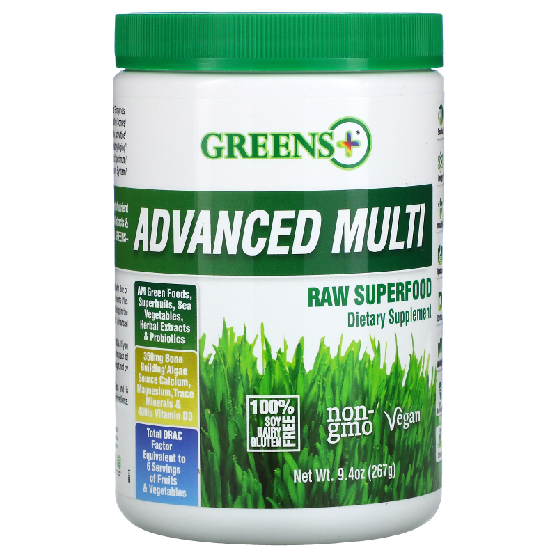 Greens Plus, Advanced Multi Raw Superfood, Greens Powder, 9.4 oz  (276 g)