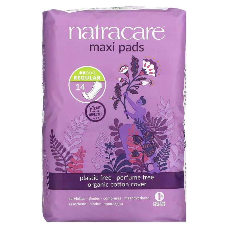 Natracare, Maxi Pads, Regular/Normal, 14 Regular Pads