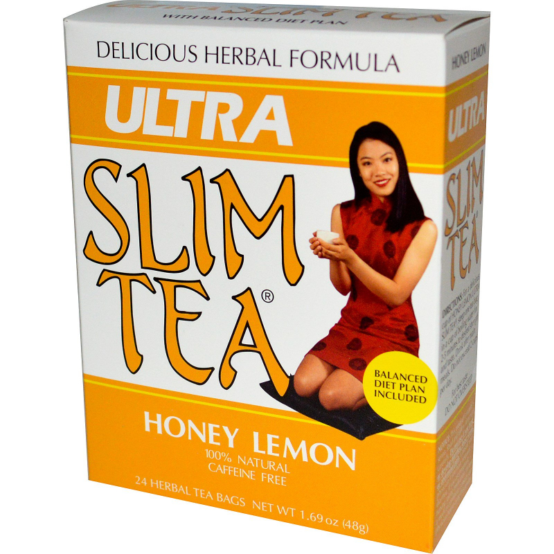 Hobe Labs, Ultra Slim Tea, Honey Lemon, 24 Herbal Tea Bags, 1.69 oz (48 g)
