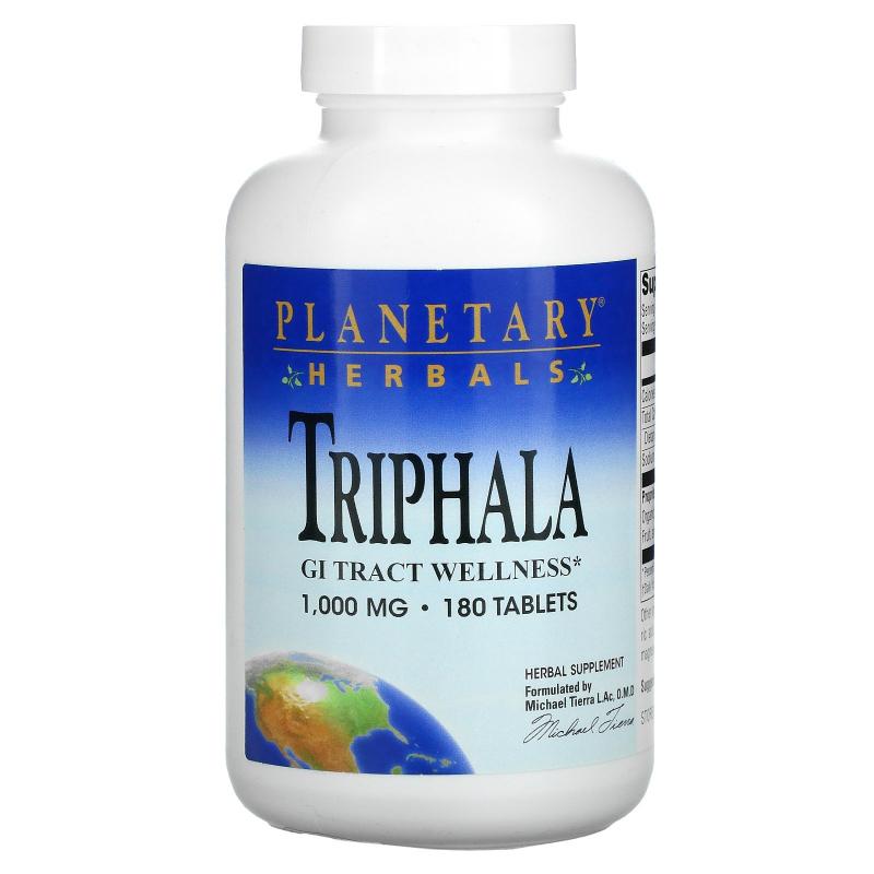 Planetary Herbals, Triphala, GI Tract Wellness, 1,000 mg, 180 Tablets