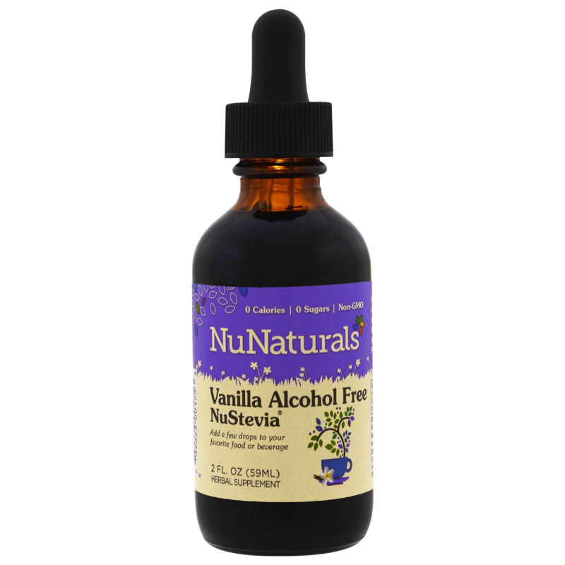 NuNaturals, Vanilla Alcohol Free NuStevia, 2 fl oz (59 ml)