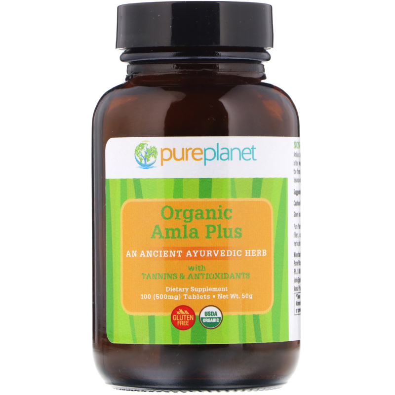 Pure Planet, Organic Amla Plus, 500 mg, 100 Tablets