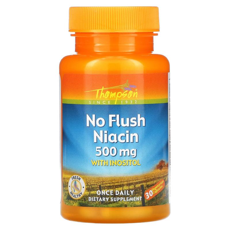 Thompson, No Flush Niacin, 500 mg, 30 Veggie Caps