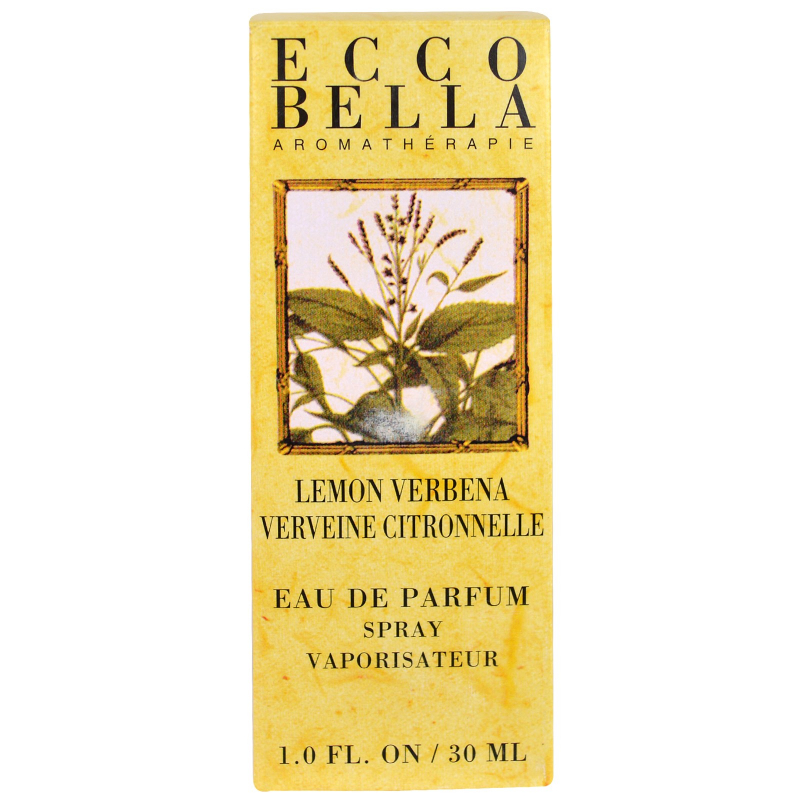 Ecco Bella, Aromatherapy, Eau de Perfum Spray, Lemon Verbena, 1.0 fl oz (30 ml)
