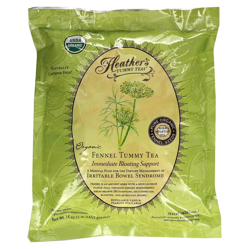 Heather's Tummy Care, Tummy Teas, Organic, Fennel Tea, Caffeine Free, 16 oz (453 g)