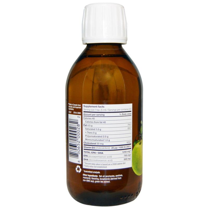 Ascenta, NutraSea + D, Omega-3 + Vitamin D, Crisp Apple Flavor, 6.8 fl oz (200 ml) Liquid