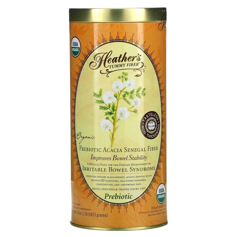 Heather's Tummy Care, Tummy Fiber, Organic Acacia Senegal Tummy Fiber, 16 oz (453 g)