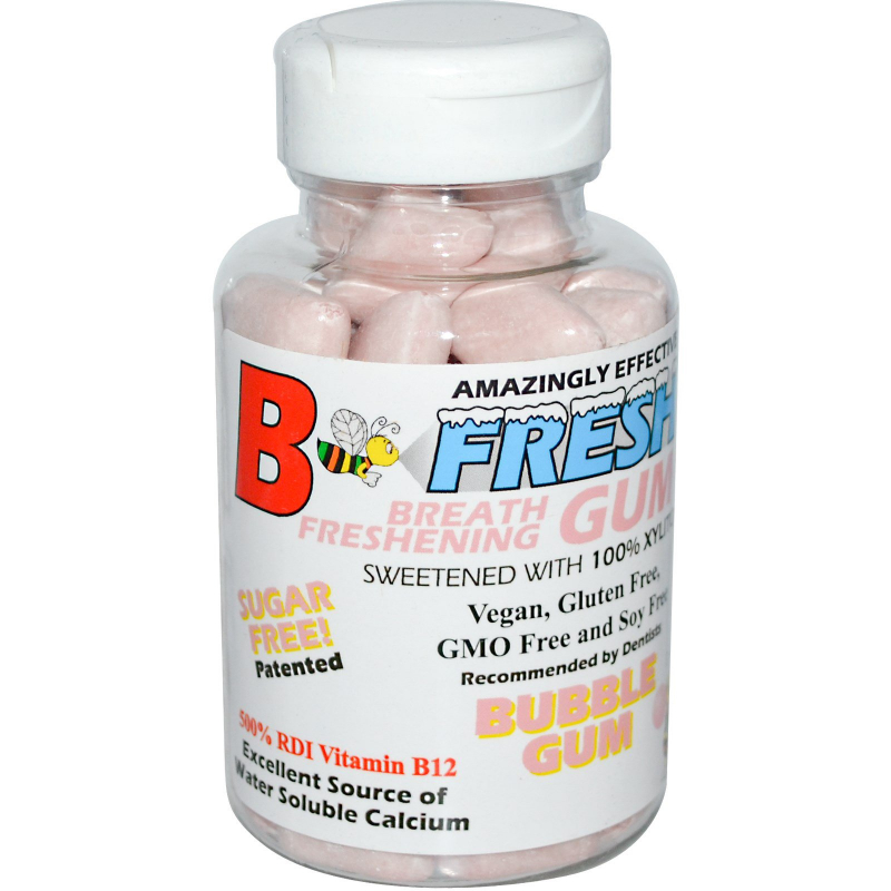 B-Fresh Inc., Breath Freshening Gum, Bubble Gum, 50 Pieces