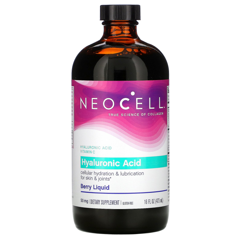 Neocell, Hyaluronic Acid, Blueberry Liquid, 16 fl oz (473 ml)