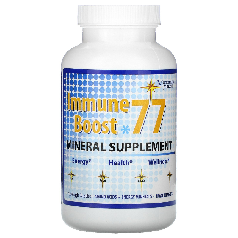 Morningstar Minerals, Immune Boost 77, Mineral Supplement, 120 Veggie Capsules