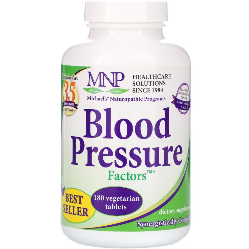 Michael's Naturopathic, Blood Pressure Factors, 180 Vegetarian Tablets