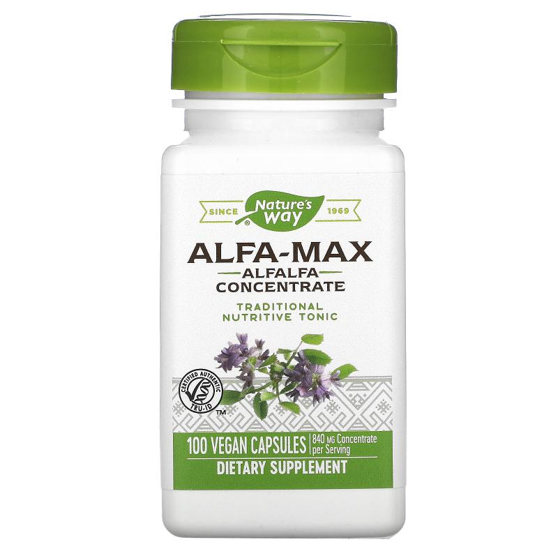 Nature's Way, Alfa-Max, Concentrate, 525 mg, 100 Vegetarian Capsules