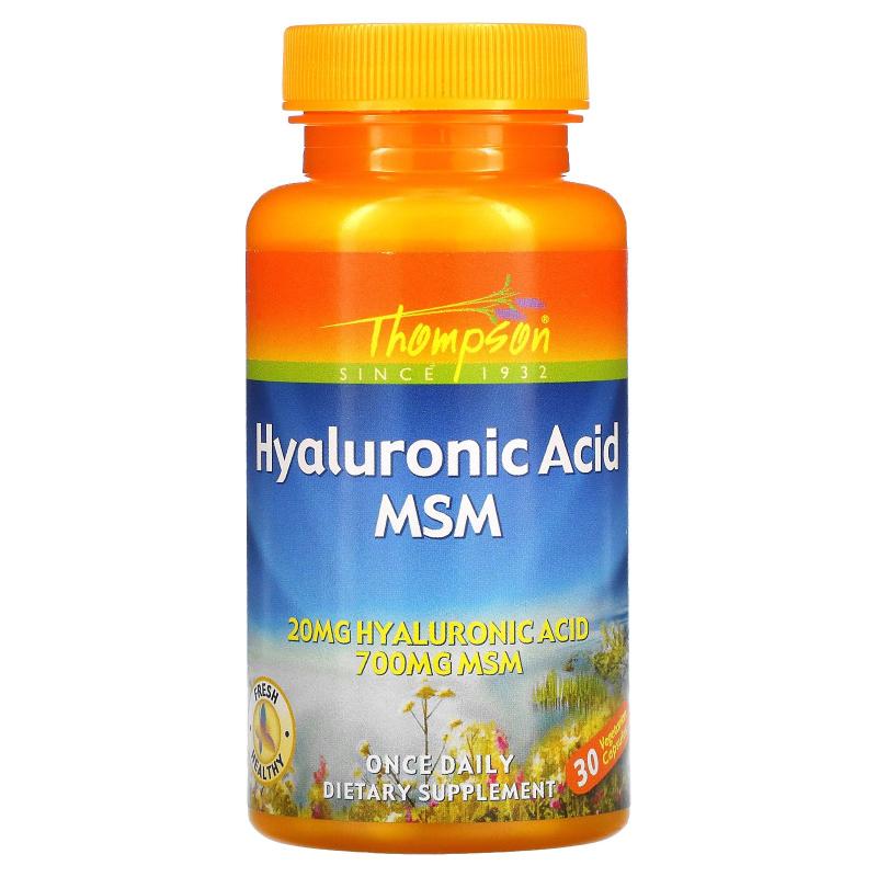 Thompson, Hyaluronic Acid - MSM, 30 Veggie Caps