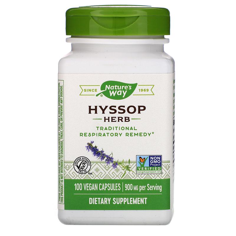 Nature's Way, Hyssop Herb, 450 mg, 100 Vegetarian Capsules
