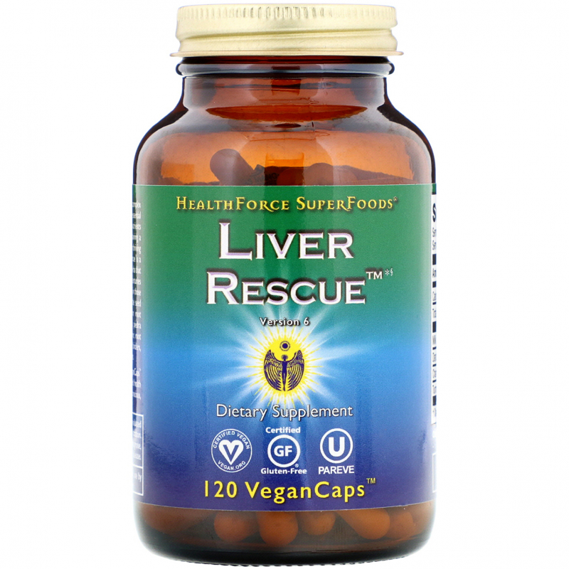 HealthForce Superfoods, Liver Rescue, Version 6, 120 Vegan Caps