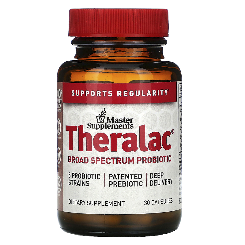 Master Supplements, Theralac, Bio-Replenishing Probiotic, 30 Capsules
