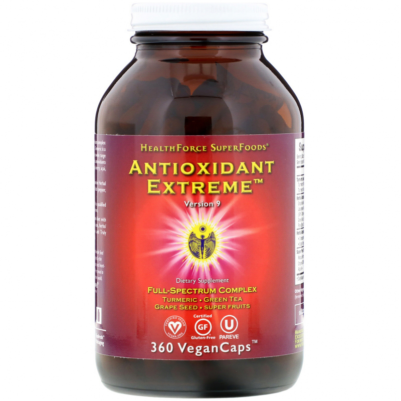 HealthForce Superfoods, Antioxidant Extreme, Version 9, 360 Vegan Caps