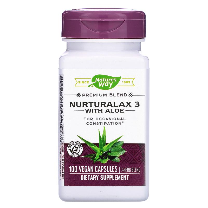 Nature's Way, Nurturalax 3, with Aloe, 100 Vegetarian Capsules