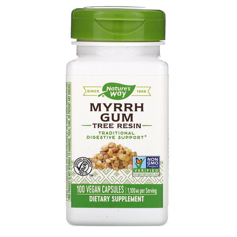 Nature's Way, Myrrh Gum, Tree Resin, 550 mg, 100 Vegetarian Capsules