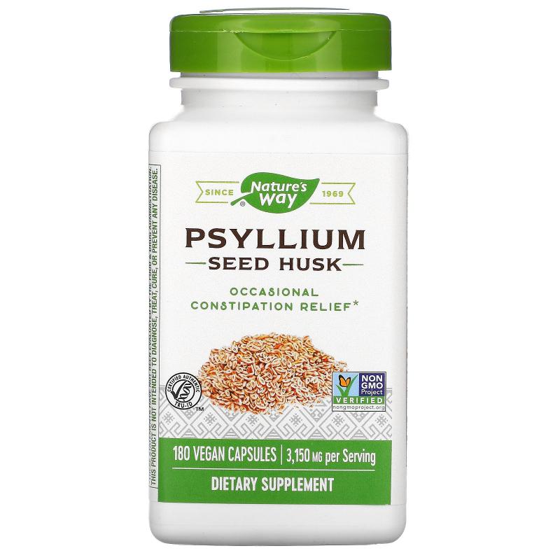 Nature's Way, Psyllium Husk, 525 mg, 180 Vegetarian Capsules