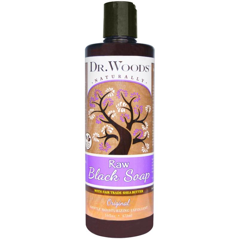 Dr. Woods, Raw Black Soap with Fair Trade Shea Butter, Original, 16 fl oz (473 ml)