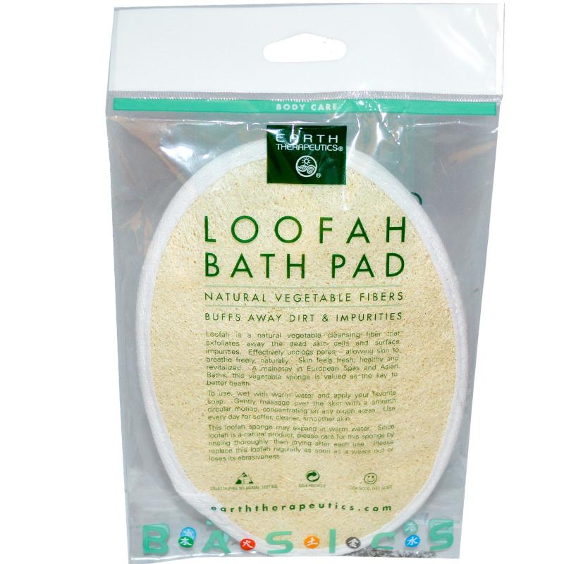 Earth Therapeutics, Loofah Bath Pad, 1 Pad