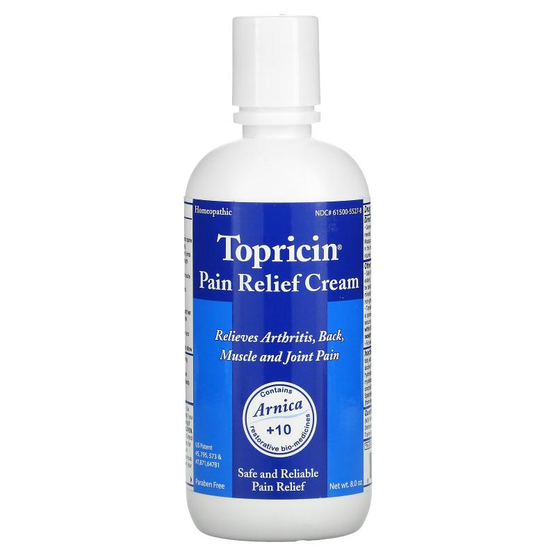 Topricin, Pain Relief Cream, 8.0 oz