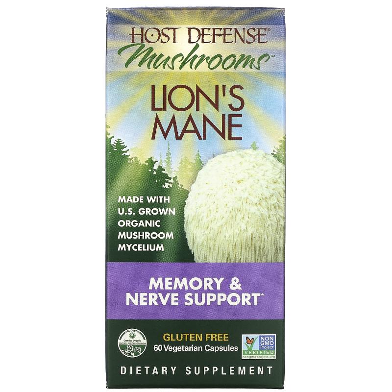 Fungi Perfecti, Lion's Mane, Memory & Nerve Support, 60 Veggie Caps