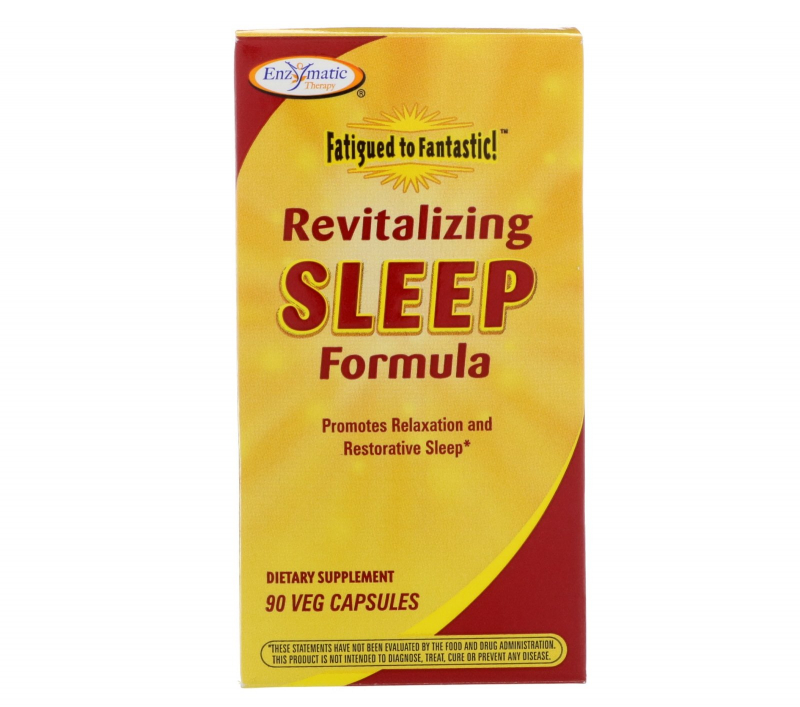 Enzymatic Therapy, Fatigued to Fantastic!, Revitalizing Sleep Formula, 90 Veg Capsules