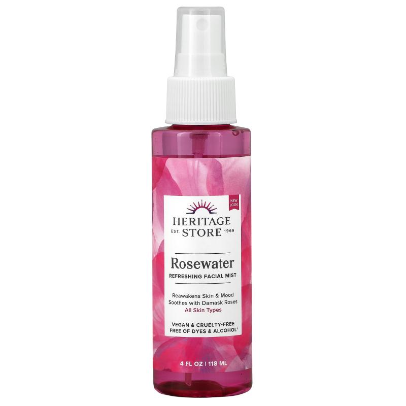 Heritage Store, RoseWater, Rose Petals, 4 fl oz (120 ml)