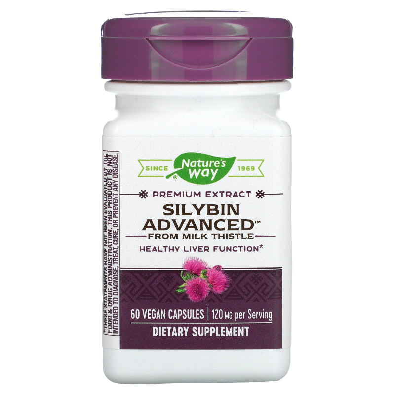 Enzymatic Therapy, Silybin Advanced from Milk Thistle, 60 Veggie Caps