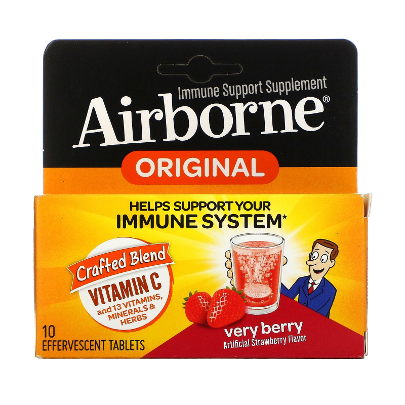 AirBorne, Blast of Vitamin C, Very Berry, 10 Effervescent Tablets