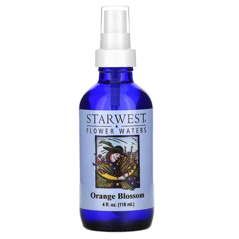 Starwest Botanicals, Flower Waters, Orange Blossom, 4 fl oz (118 ml)