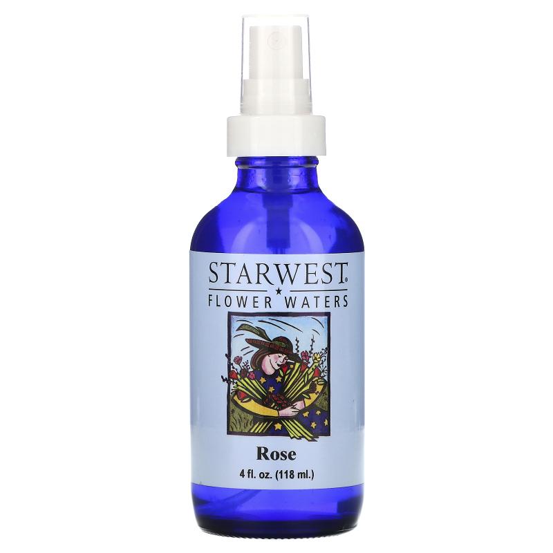 Starwest Botanicals, Flower Waters, Rose, 4 fl oz (118 ml)