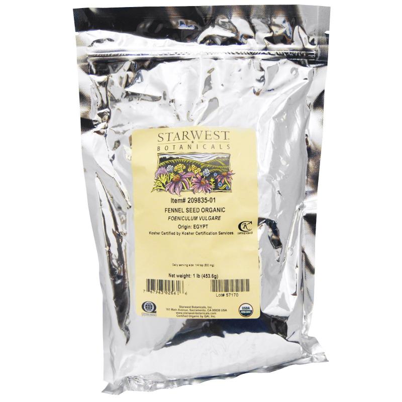 Starwest Botanicals, Organic, Fennel Seed , 1 lb (453.6 g)