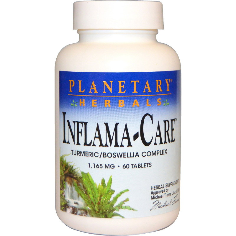 Planetary Herbals, Inflama-Care, 1,165 mg, 60 Tablets