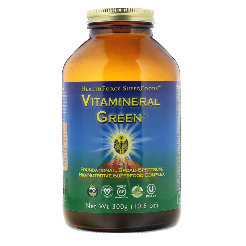 HealthForce Superfoods, Vitamineral Green, Version 5.3, 10.6 oz (300 g)
