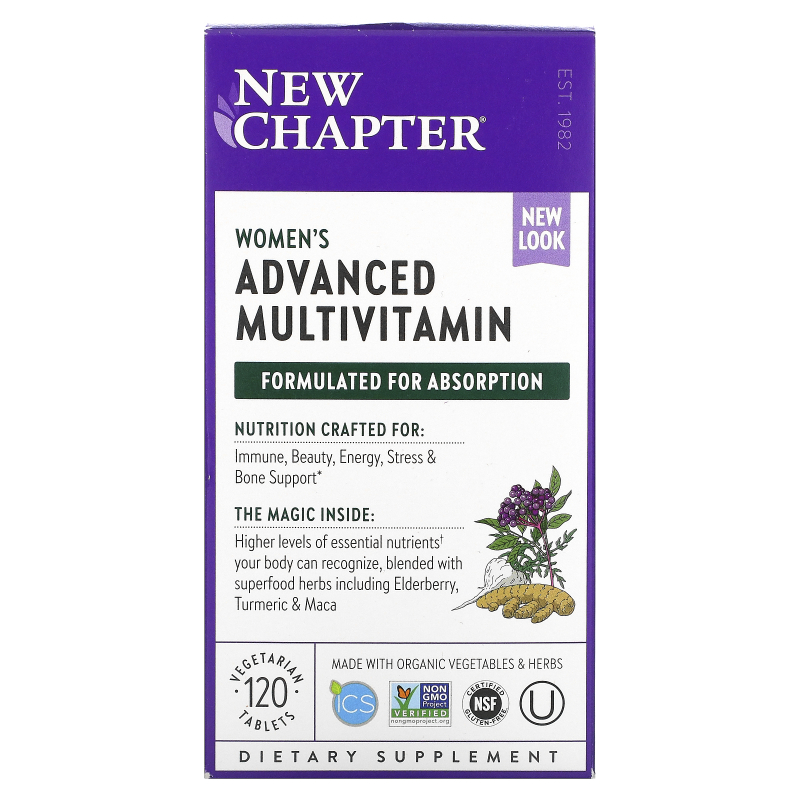 New Chapter, Every Woman Multivitamin, 120 Tablets