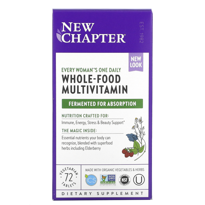 New Chapter, Every Woman's One Daily Multi, 72 Tablets