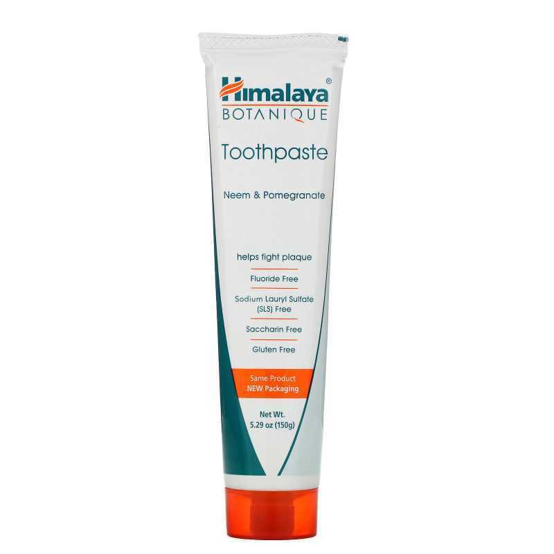 Himalaya, Botanique, Toothpaste, Neem, Pomegranate, Fluoride Free, 5.29 oz (150 g)