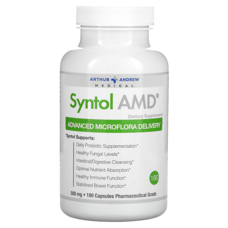 Arthur Andrew Medical, Syntol AMD, Advanced Microflora Delivery, 500 mg, 180 Capsules