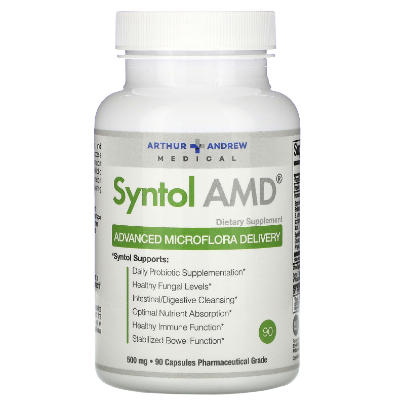 Arthur Andrew Medical, Syntol AMD, Advanced Microflora Delivery, 500 mg, 90 Capsules