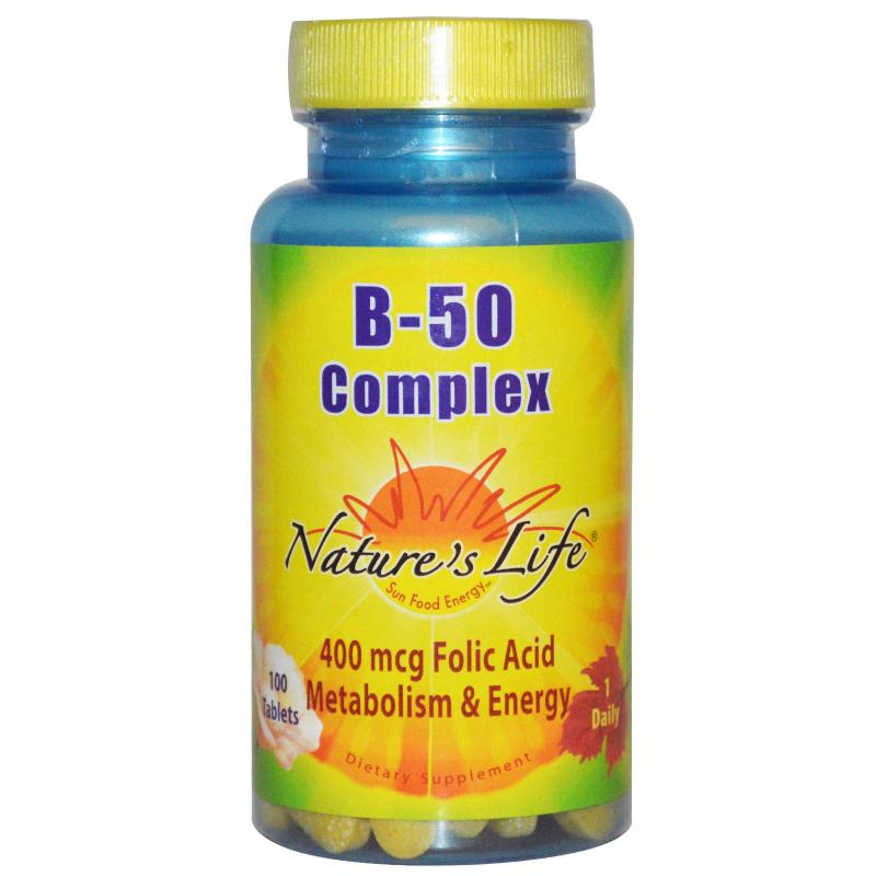 Nature's Life, B- 50 Complex, 100 Tablets