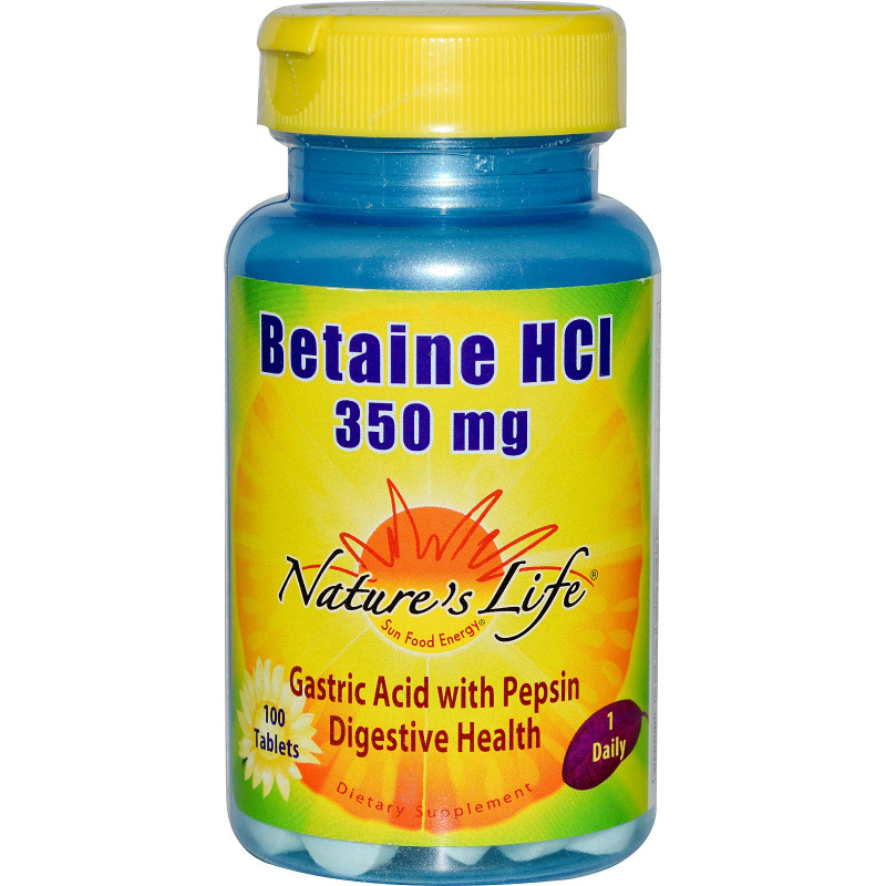 Nature's Life, Betaine HCL, 350 mg, 100 Tablets